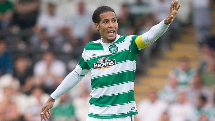 PAISLEY, SCOTLAND - JULY 01: Virgil Van Dijk of Celtic in action against Den Bosch  during the Pre Season Friendly between Celtic and De Bosch at St Mirren Park on  July 01, 2015 in Paisley, Scotland.  (Photo by Jeff Holmes/Getty Images)