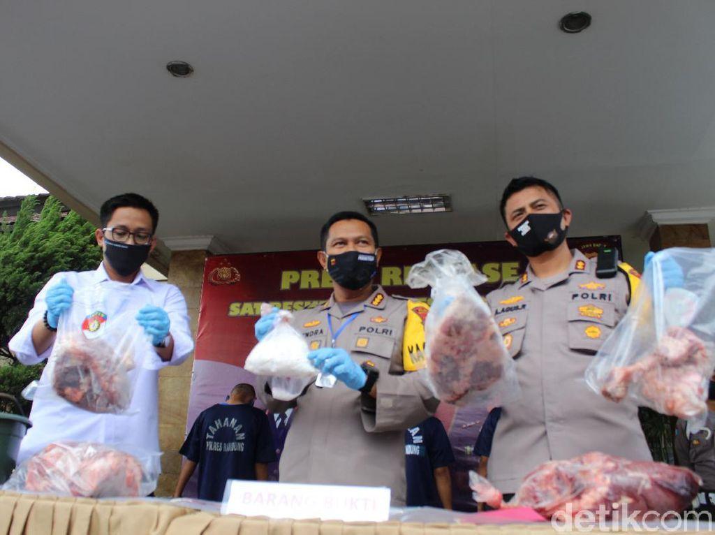 Jual Daging Babi Diaku Sapi, 4 Orang di Bandung Ditangkap Polisi