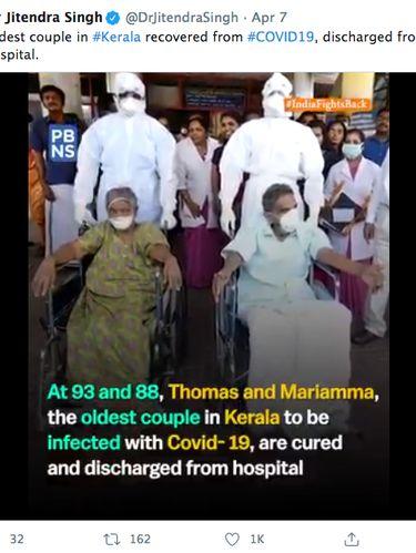 Thomas Abraham dan Mariyamma, pasangan tertua di India yang terkena COVID-19