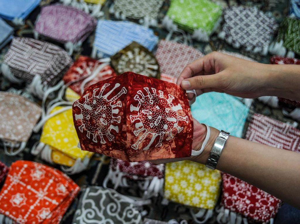 Kreatif! Ada Batik Motif Corona Lho di Bandung