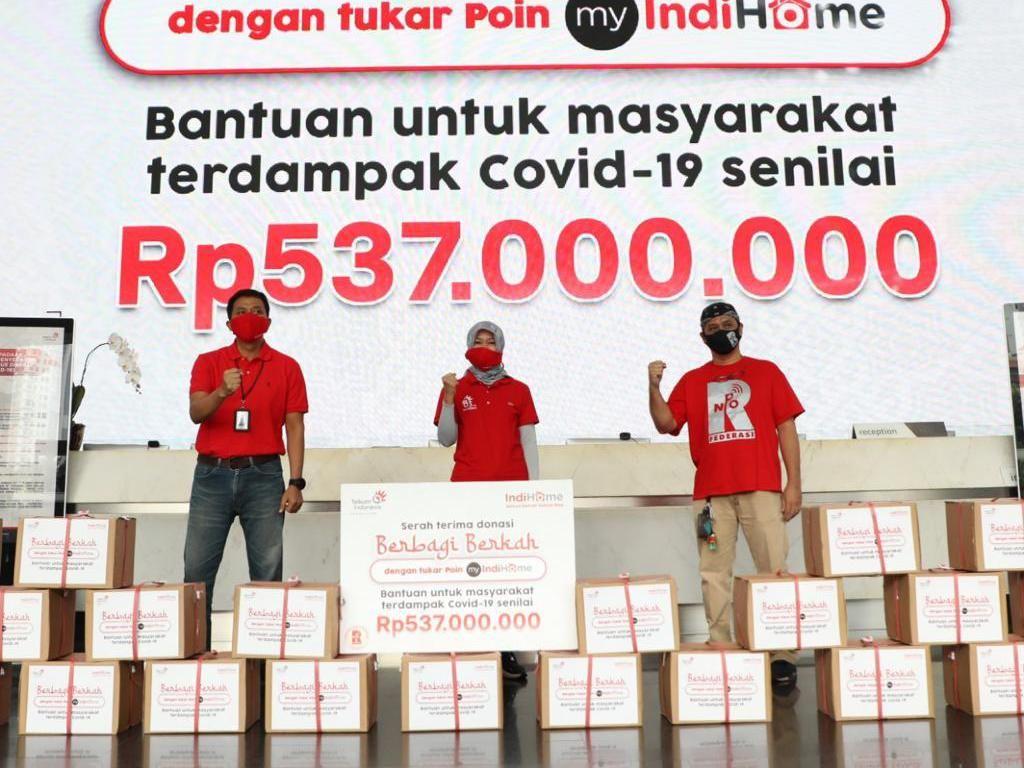 IndiHome Donasikan 3.000 Paket Sembako Senilai Rp 537 Juta