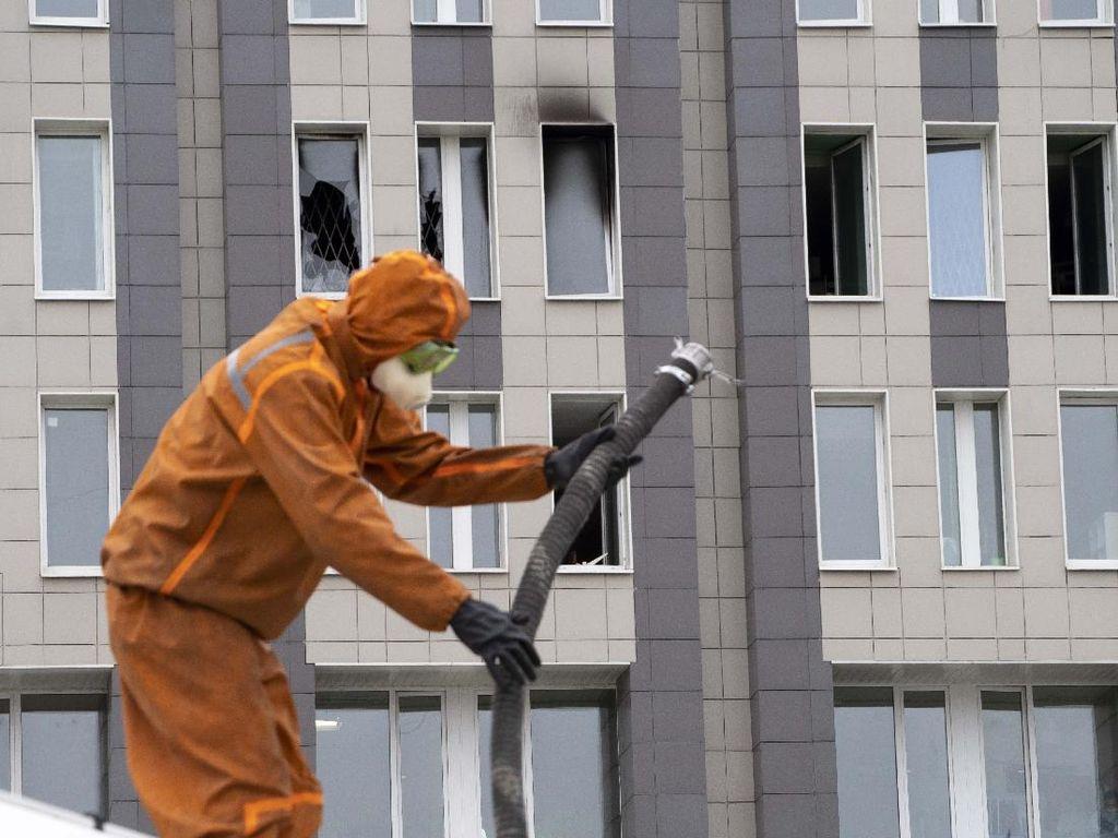 Rumah Sakit di Rusia Terbakar, 5 Pasien Corona Tewas