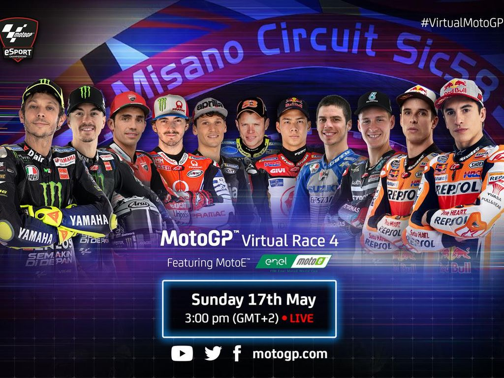 Duo Marquez Panas! Tonton Lagi Balapan Virtual MotoGP Misano di Sini