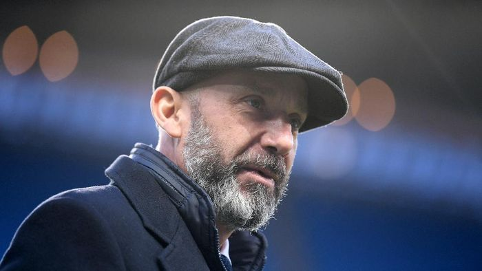 MANCHESTER, ENGLAND - MARCH 23:  Ex- Italian International player, Gianluca Vialli looks on prior to the International Friendly match between Italy and Argentina at Etihad Stadium on March 23, 2018 in Manchester, England.  (Photo by Laurence Griffiths/Getty Images)