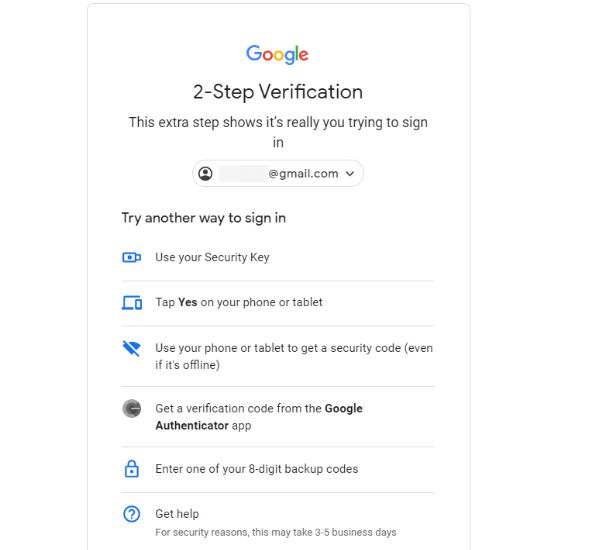 Cara mengaktifkan second-layer untuk proteksi akun Google.