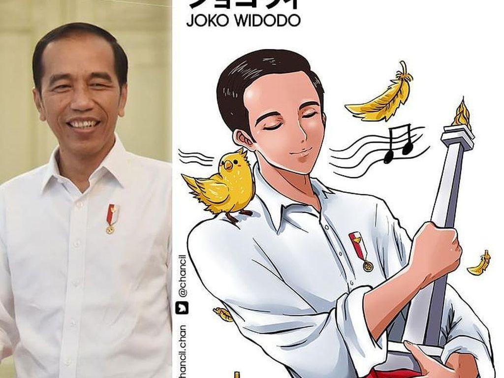 Karya Anak Muda Ini Viral, Bikin Jokowi Hingga Prabowo Jadi Tokoh Anime