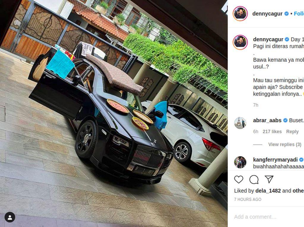 Rolls-Royce Raffi Ahmad Jadi Tempat Jemur Kasur dan Kerupuk Denny Cagur