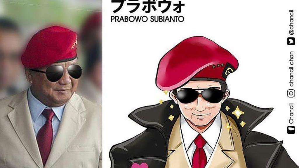 Keren Banget, Begini Jadinya Saat Jokowi hingga Prabowo Jadi Tokoh Anime