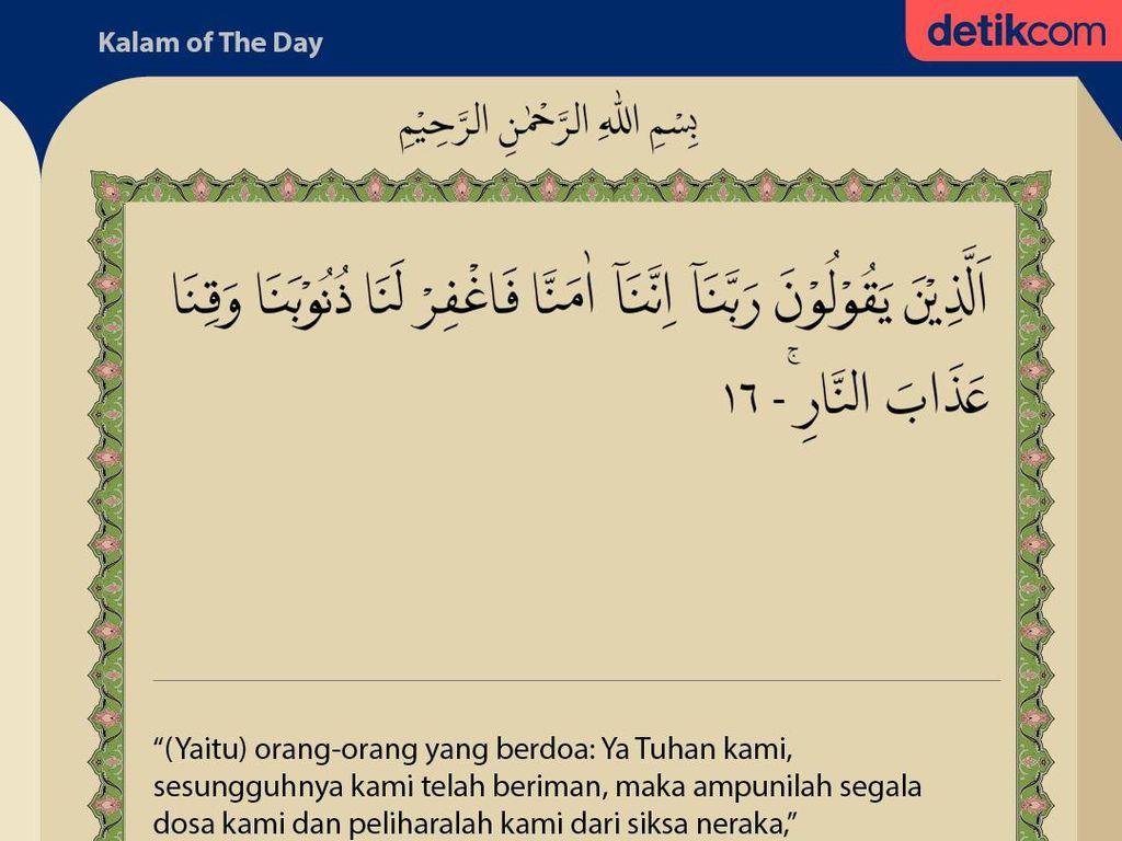 Surat Ali Imran Ayat 16 : Doa Agar Dosa Diampuni