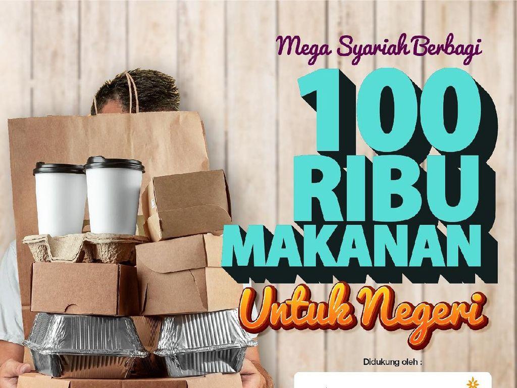 Bank Mega Syariah Salurkan 100.000 Paket Makanan ke Warga Terdampak Corona