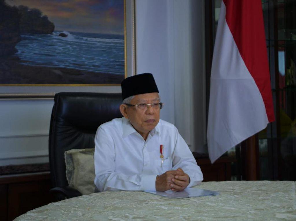 Panjatkan Doa, Maruf Amin Mohon Indonesia Bebas dari Beban Corona