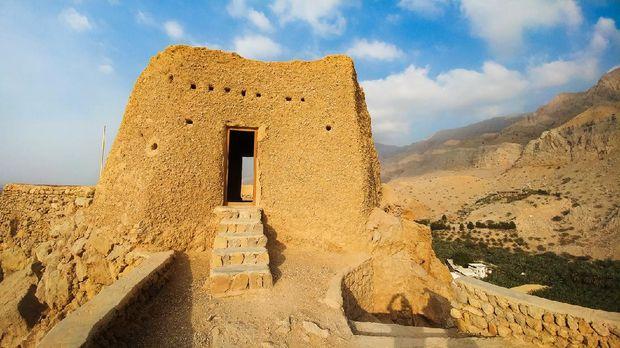 Dhayah Fort in north Ras Al Khaimah United Arab Emirates. Gulf, heritage.