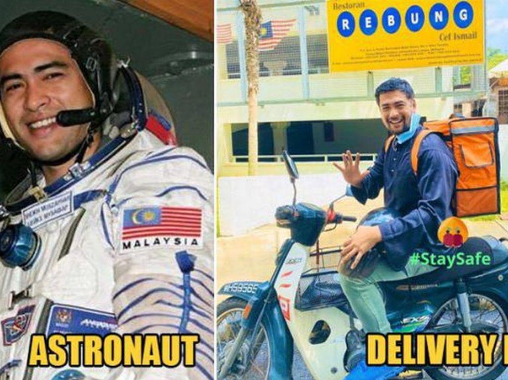Astronot dan Pilot Banting Stir Jadi Kurir Pengantar Makanan karena COVID-19