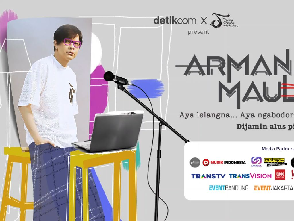 Armand Maulana Nyanyikan Medley Sejumlah Lagu Indonesia di Konsernya