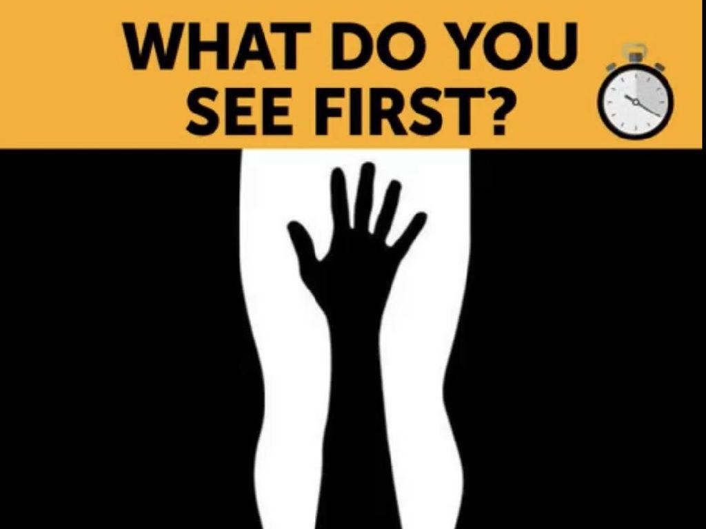 Tes Kepribadian: Gambar Tangan atau Kaki yang Pertama Dilihat?