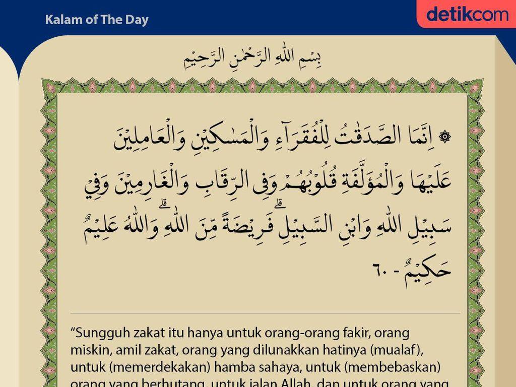 Surat At-Taubah ayat 60 : Golongan yang Berhak Menerima Zakat