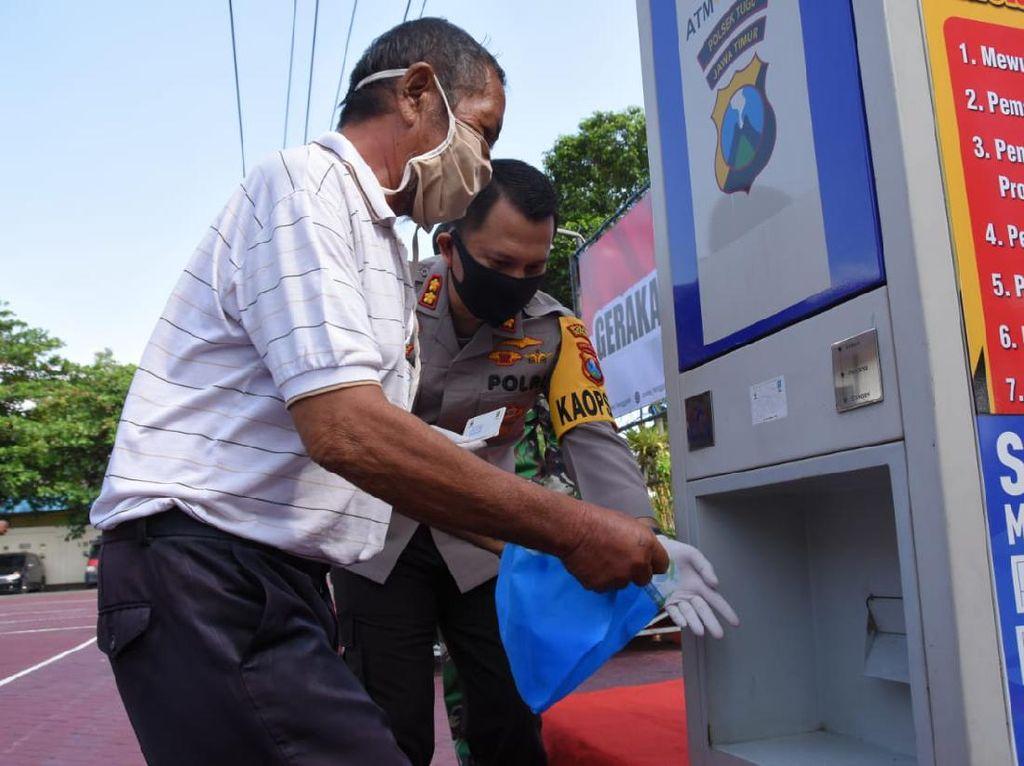 Bantu Warga Terdampak Corona, Polres Trenggalek Siapkan ATM Beras