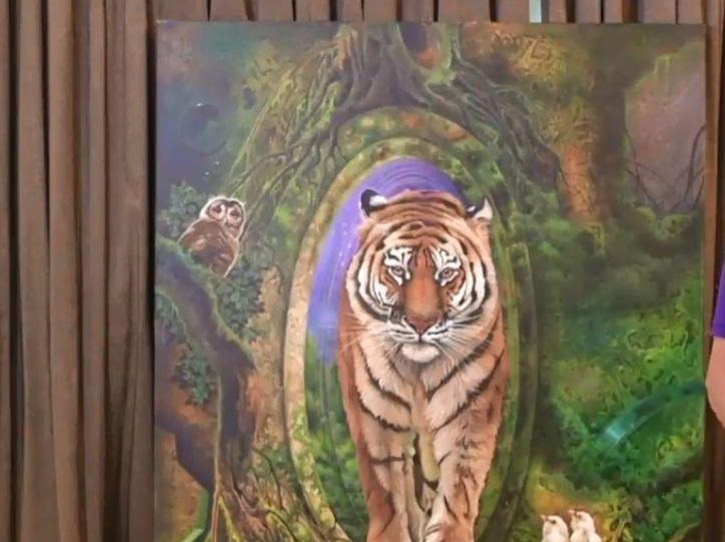 Dilelang untuk Corona, Lukisan Iwan Suhaya Dibeli Bamsoet Rp 150 Juta