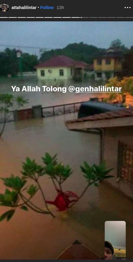 Rumah Gen Halilintar banjir