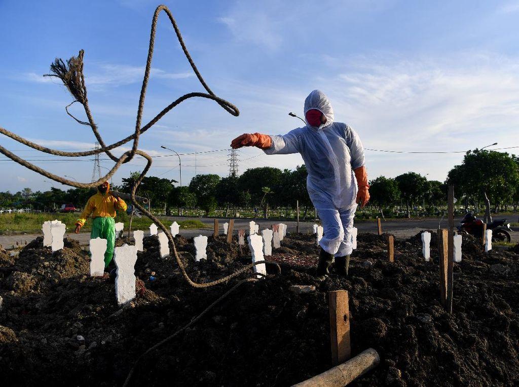 Begini Lahan Pemakaman Khusus COVID-19 di Surabaya