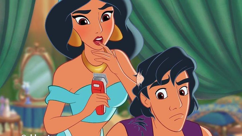 Foto: 10 Meme Kocak Ketika Cinderella Hingga Putri Jasmine Terdampak Corona