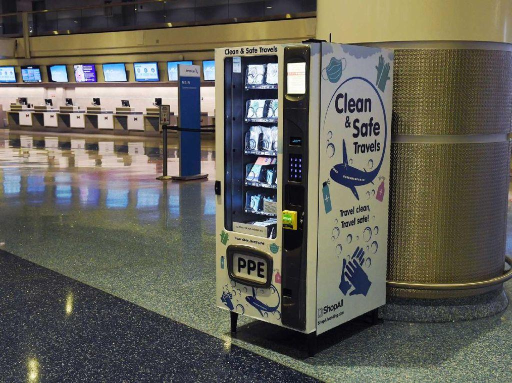 Wah, Bandara Las Vegas Punya ATM Masker