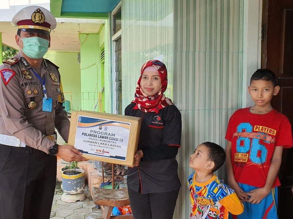 Pandemi Corona di Bojonegoro, Korban Laka dan Keluarganya Dapat Bantuan