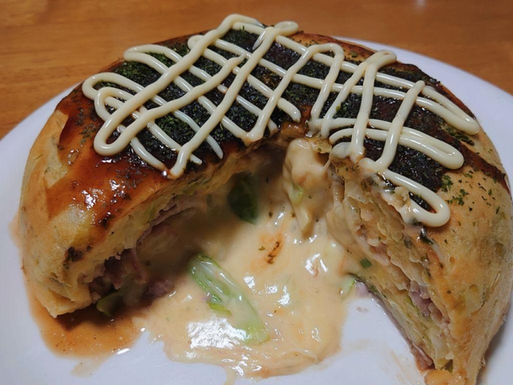 Mantul! Okonomiyaki Keju Jumbo Ini Gampang Dibuat Pakai Rice Cooker