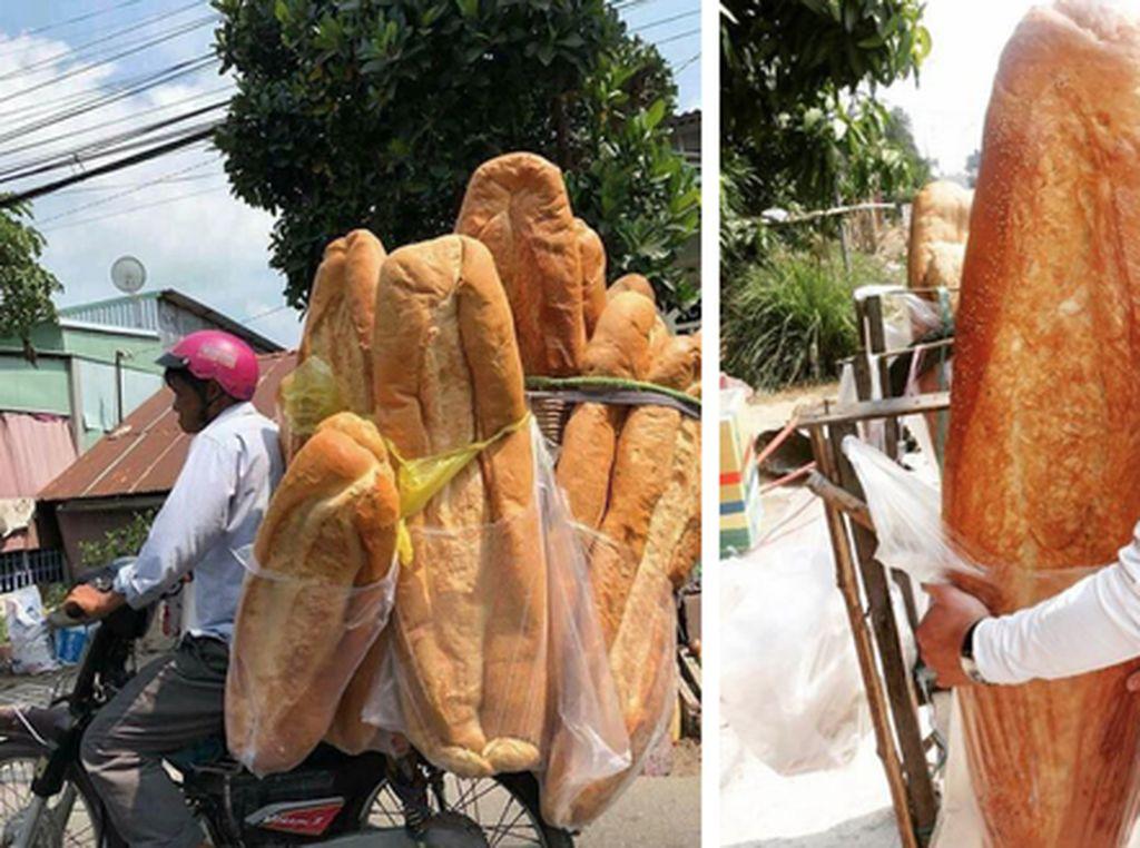 Wow! Ada Roti Sebesar Anak Kecil yang Populer di Vitenam