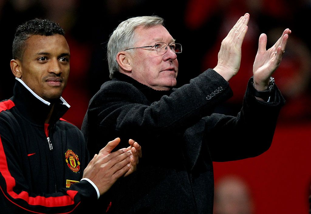 Nani dan Sir Alex Ferguson