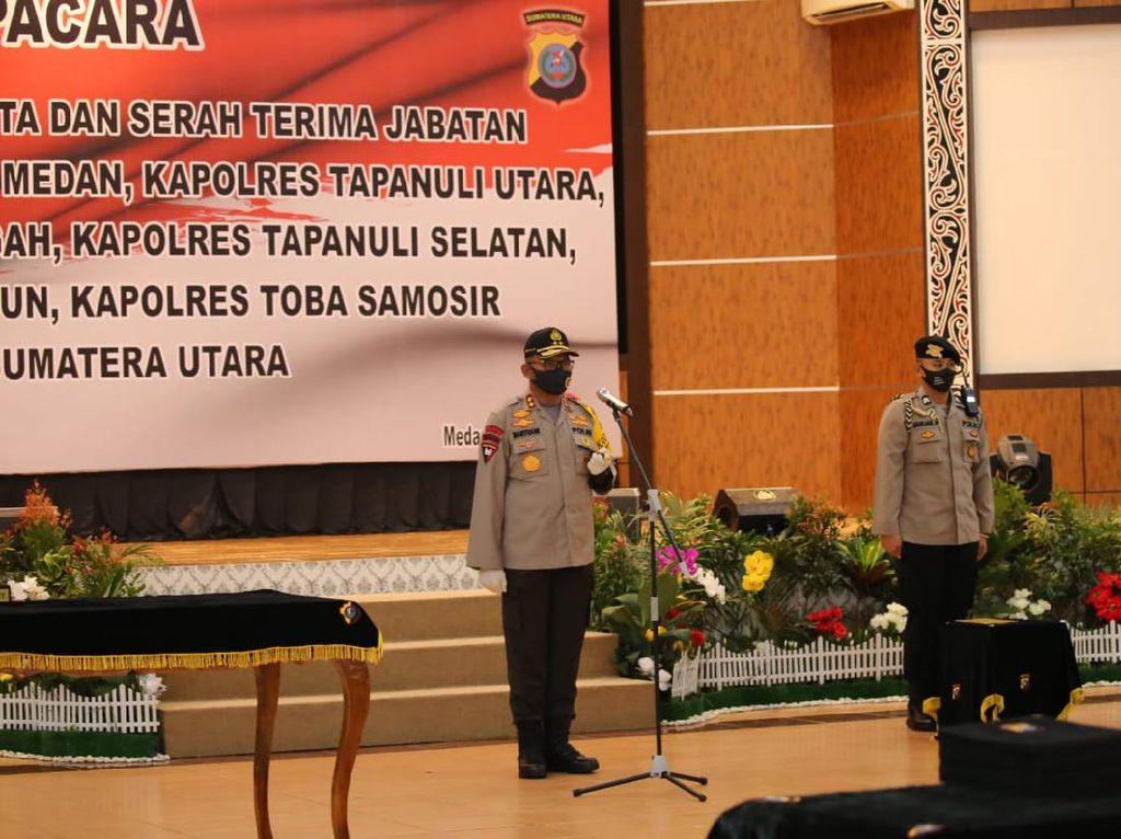 Kapolda Sumut Pimpin Sertijab Kapolrestabes Medan-Kapolres Taput