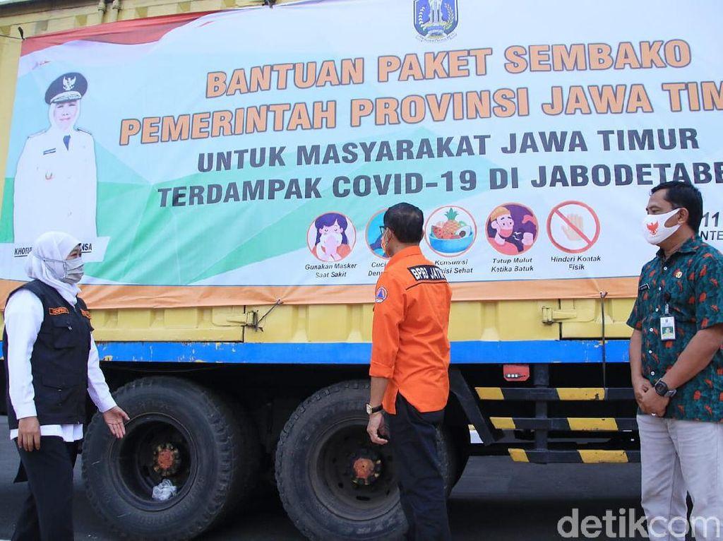 Pemprov Jatim Kirimkan Bantuan Kepada 1.900 Warga Perantau di Jabodetabek