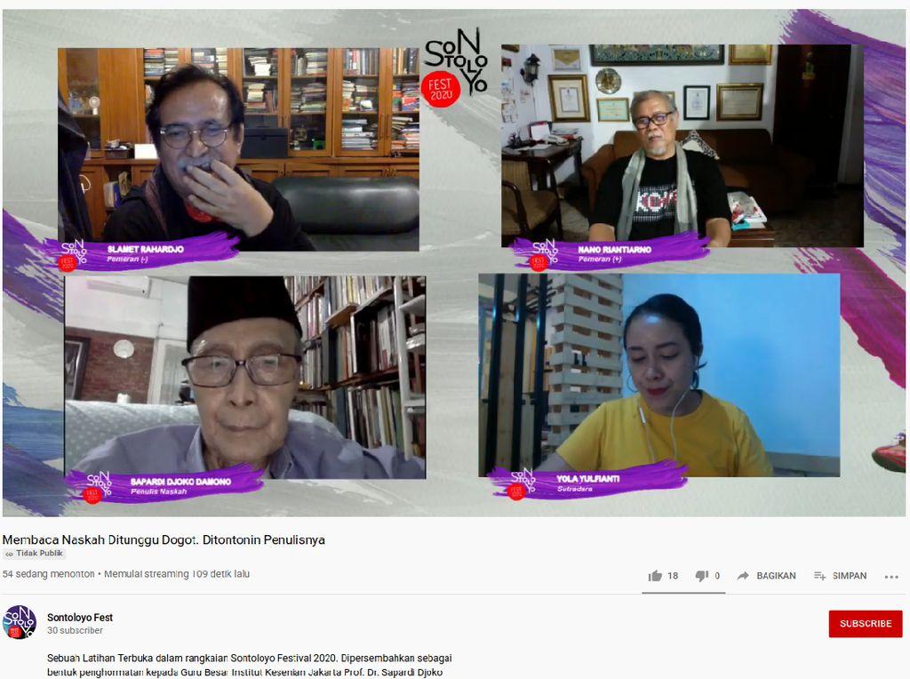 Sapardi Djoko Damono Ungkap Inspirasi Lakon Ditunggu Dogot