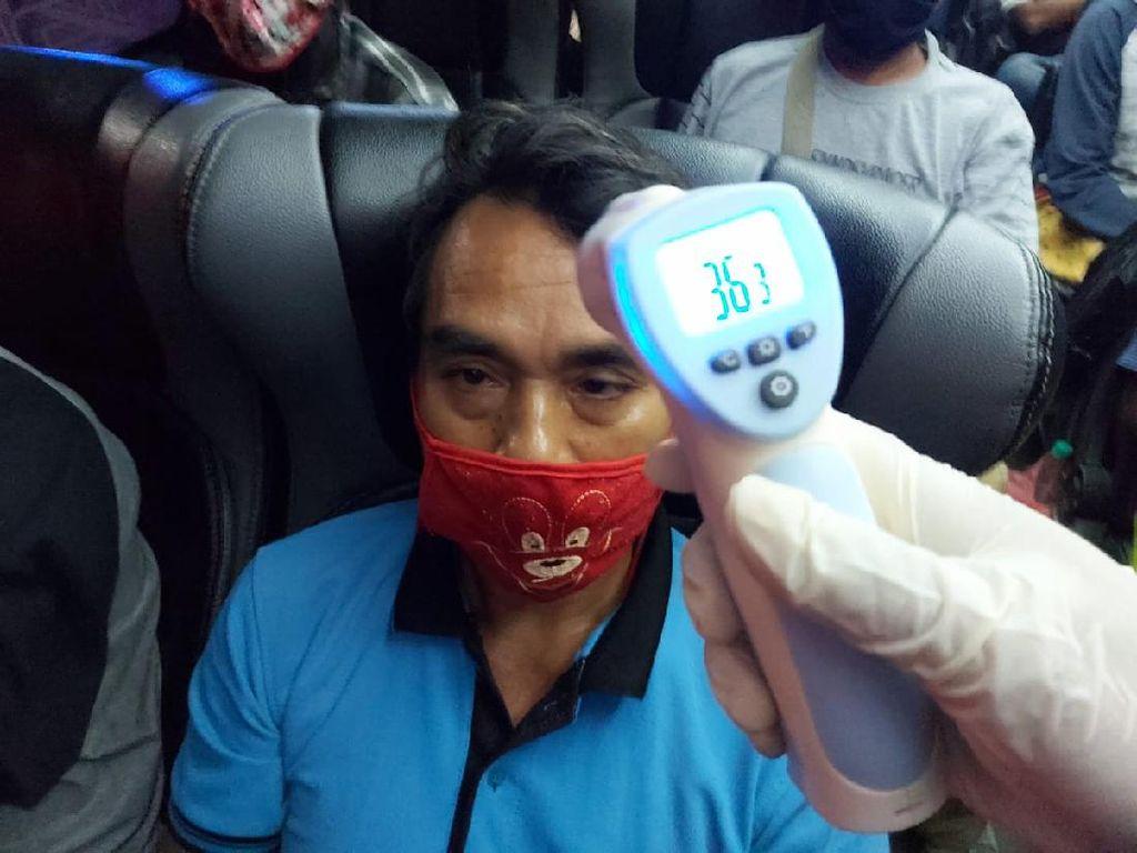 Tiga Bus Bawa 112 Pemudik ke Madura Dihentikan di Tol Sumo