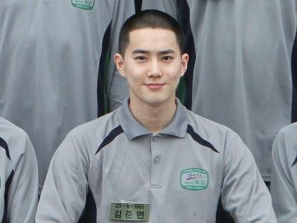 Foto Suho EXO di Pusat Latihan Wamil Beredar