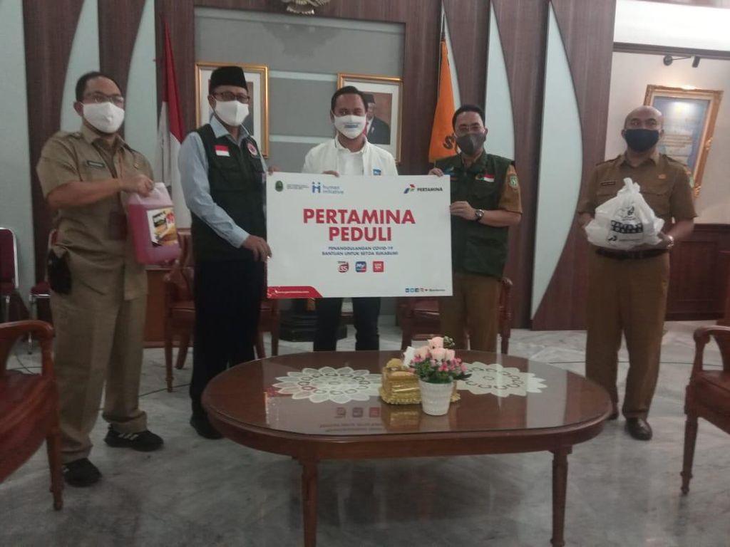 Cegah Corona, Pertamina Siapkan 5 Unit Wastafel Portabel di Sukabumi