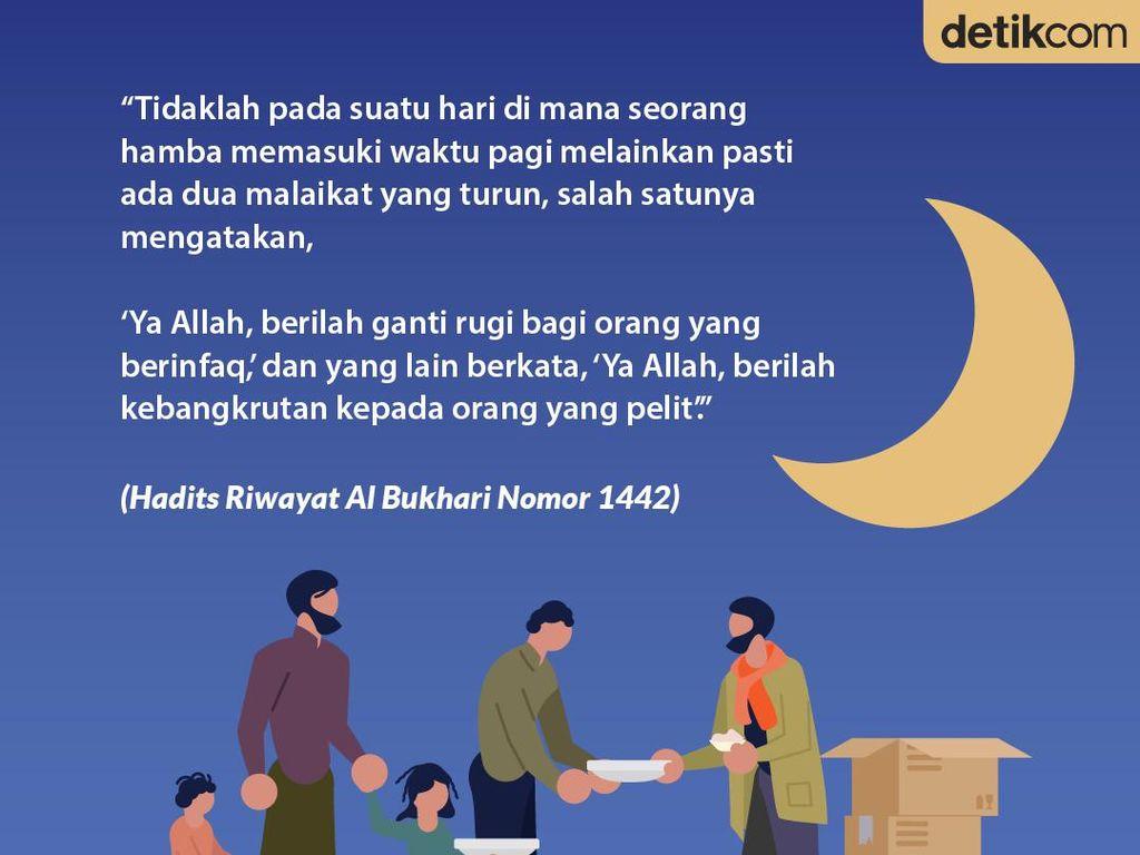 Beda Doa Malaikat untuk Orang yang Suka Berinfaq dengan yang Pelit