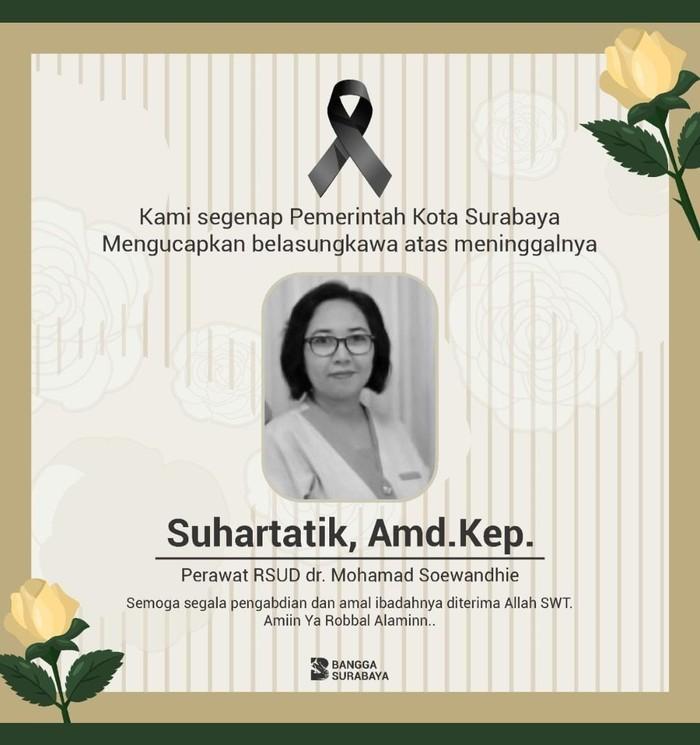 perawat dr soewandhie meninggal
