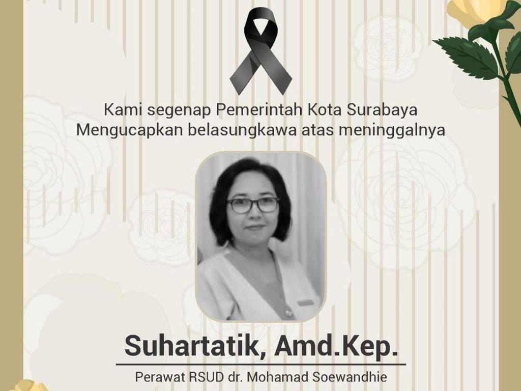 Nakes yang Meninggal Akibat COVID-19 Kepala Perawat RSUD Soewandhie Surabaya