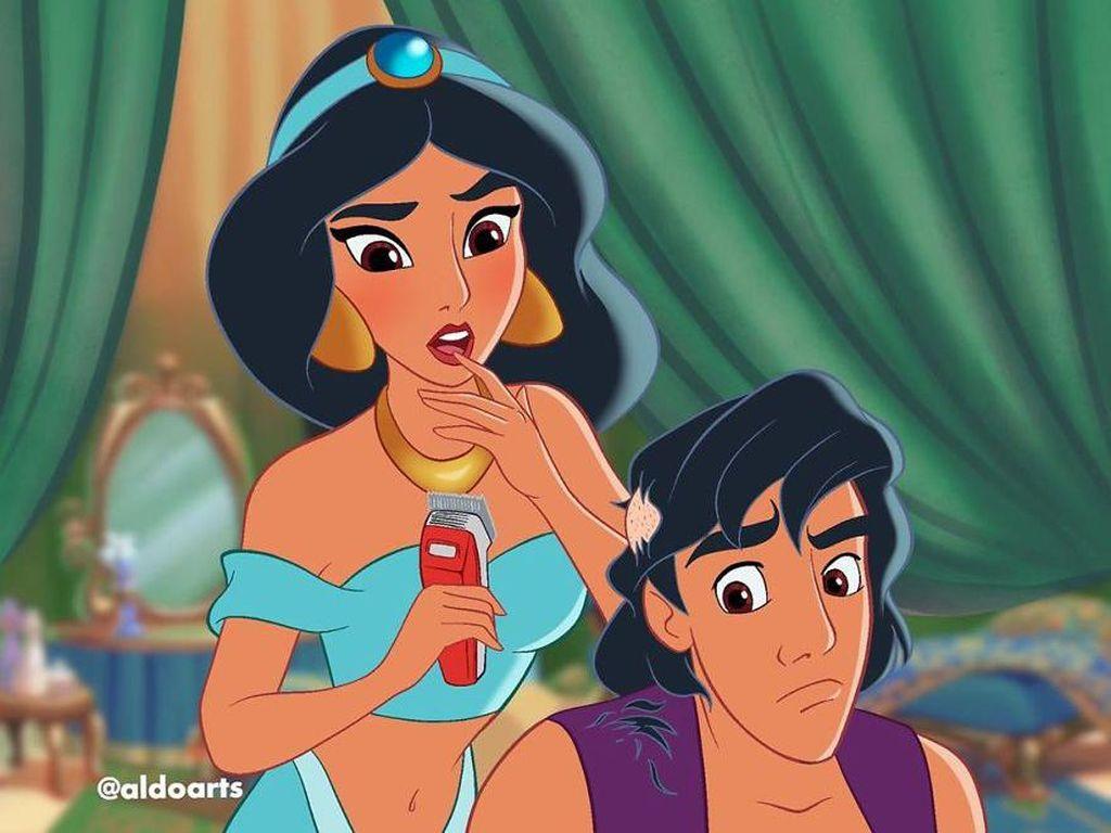 Ilustrasi Karakter Disney Saat Pandemi Corona