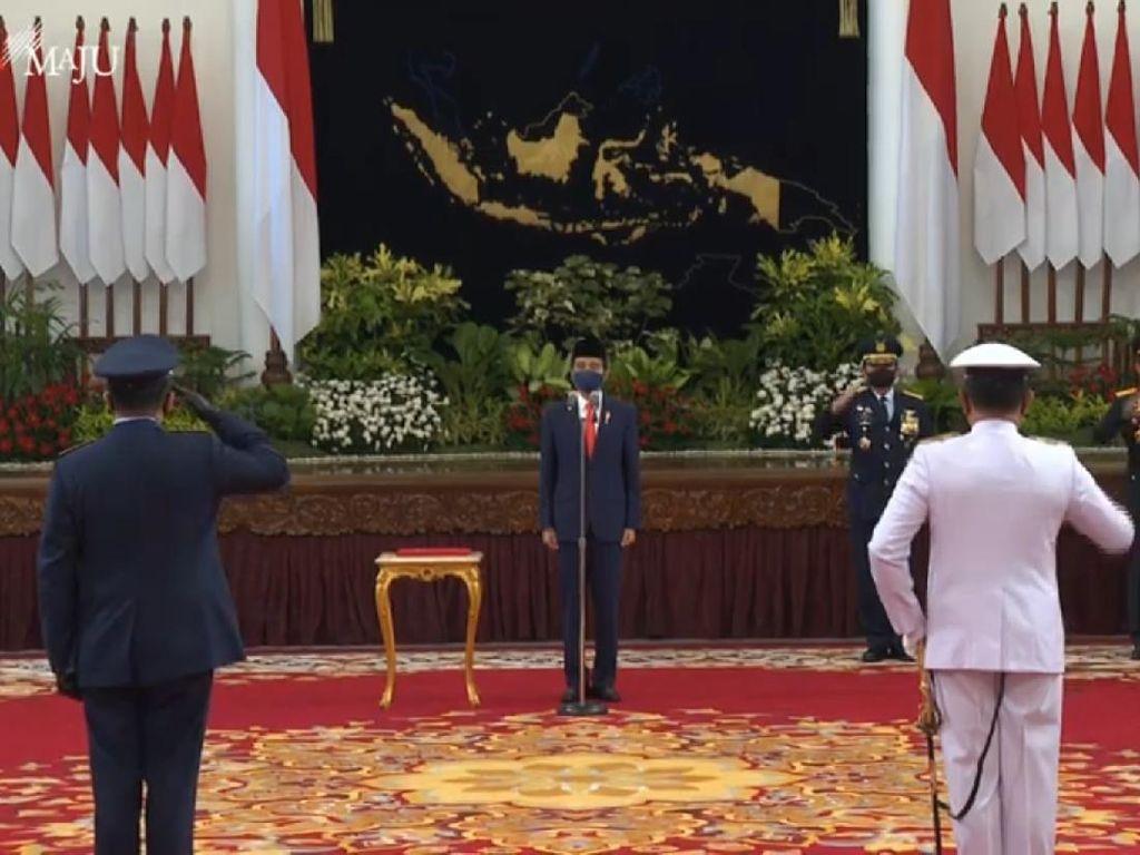 Video Jokowi Lantik KSAL dan KSAU TNI Baru