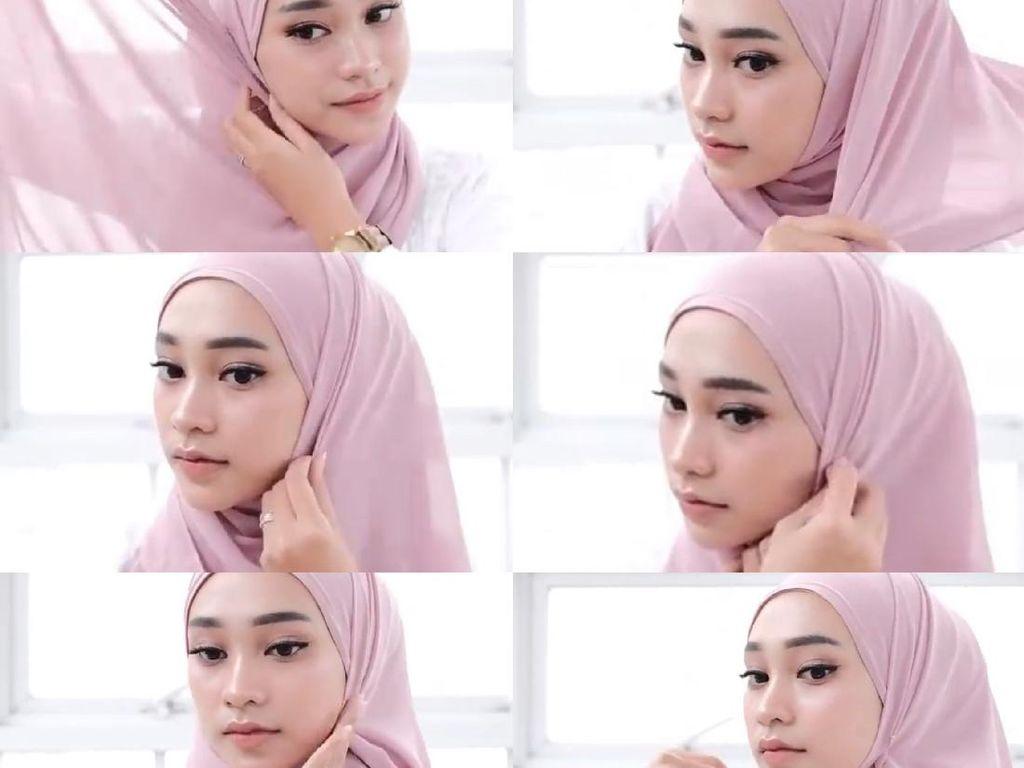 8 Tutorial Hijab Segi Empat Simpel Buat Silaturahmi Virtual Lebaran