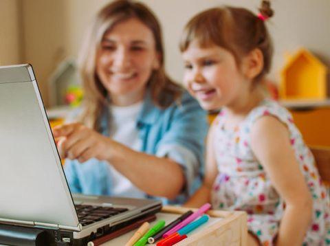 Ilustrasi anak belajar via Zoom