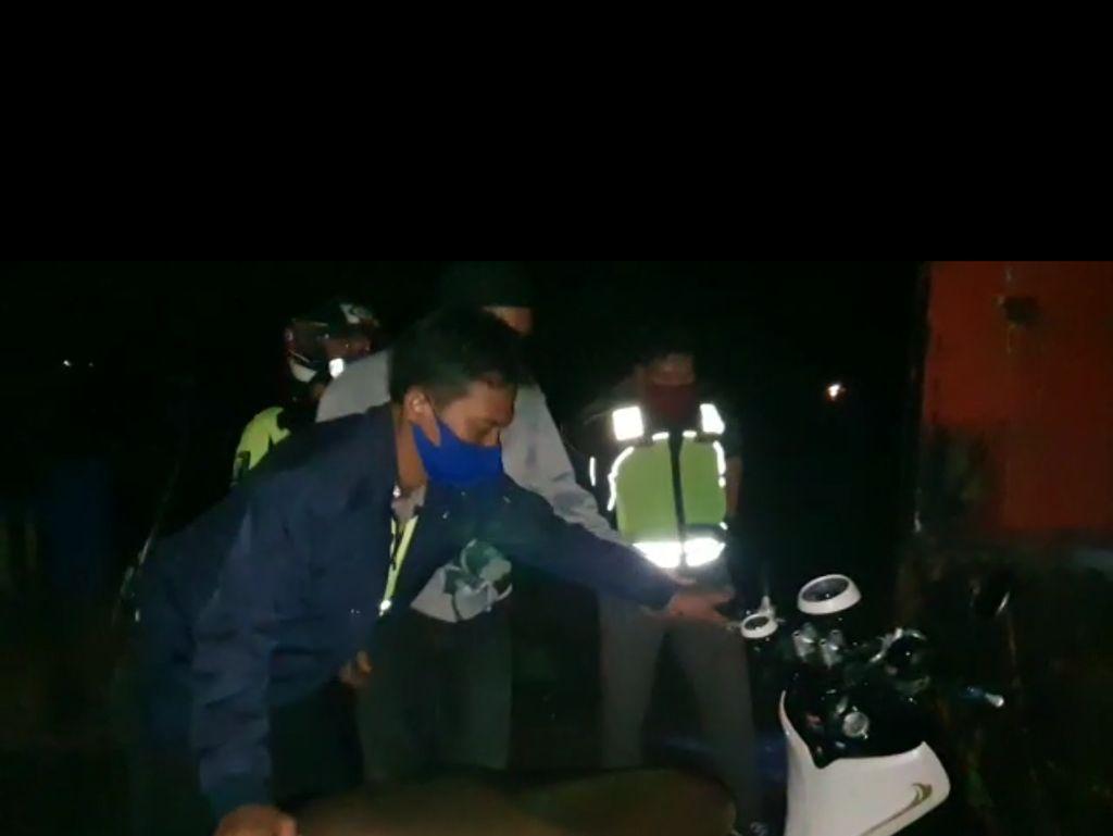 Pelaku Balap Liar Kocar-kacir Dibubarkan Polisi, 21 Sepeda Motor Diamankan