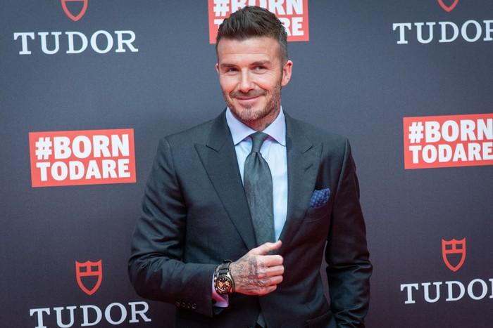 David Beckham dan rekan-rekan setimnya