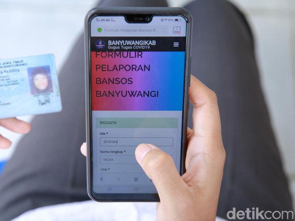 Lapor Online Langsung Dikirimi Sembako, Warga Banyuwangi Senang