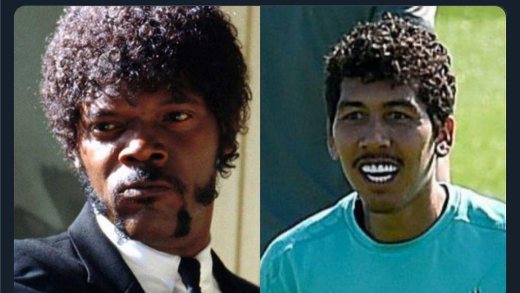 Foto: Wow! Firmino Mirip Samuel L. Jackson dan Lionel Richie