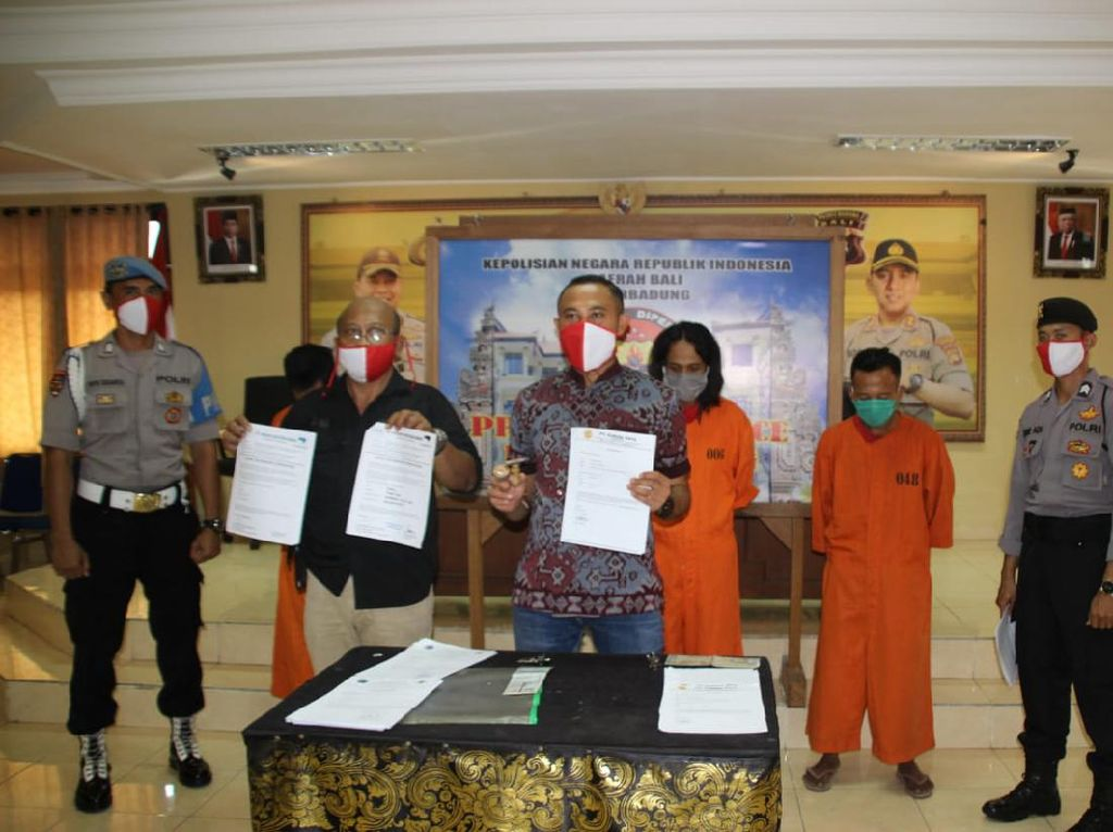 Tiga Pelaku Travel Pembuat Surat Jalan-Kesehatan Palsu di Bali Ditangkap