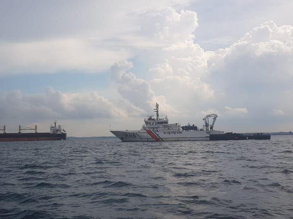 4 Kapal Patroli Kemenhub Cek Kapal Portugal di Perairan Batam