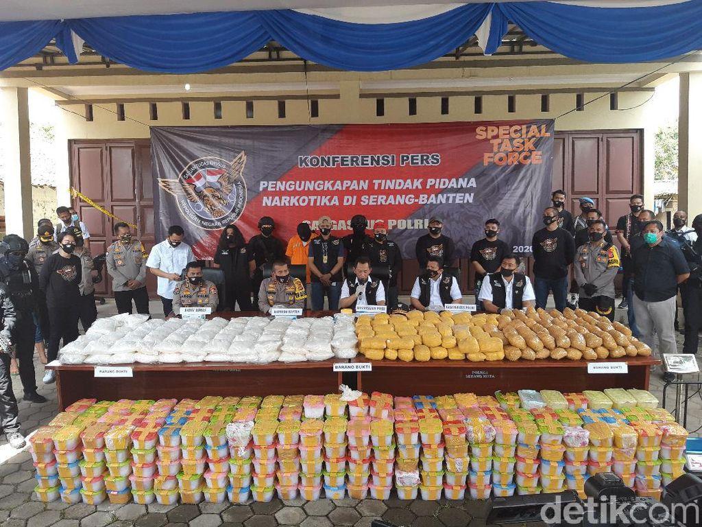 Sabu 821 Kg Jaringan Iran Masuk ke Serang dari Tanjung Lesung